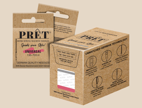 Branding, packaging design and marcom for PRET from Beissel Needles