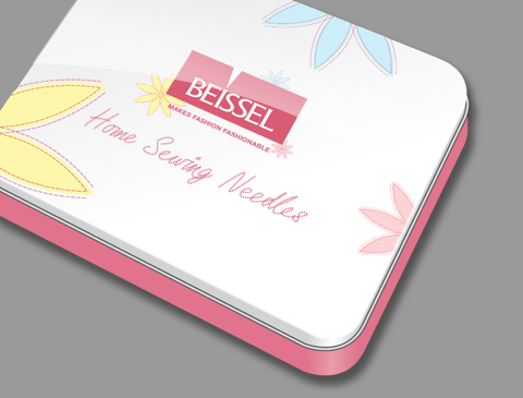 Promotional pack design for Beissel Needles
