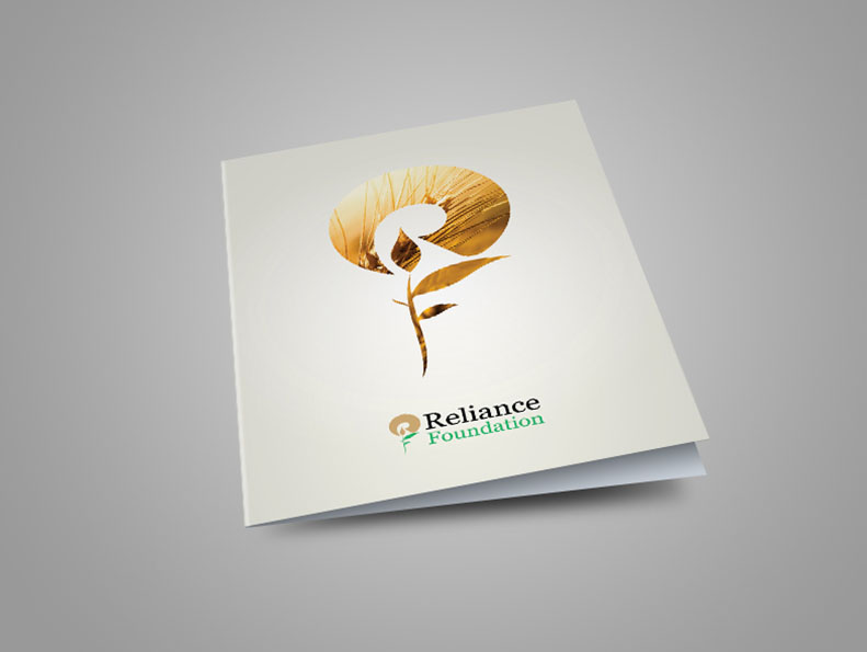 Brochure design for Reliance Foundation